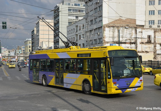 Trolleybus Athens, 7107, Piraeus