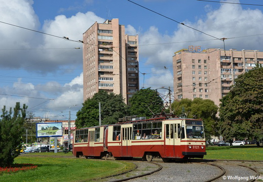 Saint Petersburg Tram, 5121, 2й Муринский проспект (2j Murinskij prospekt)
