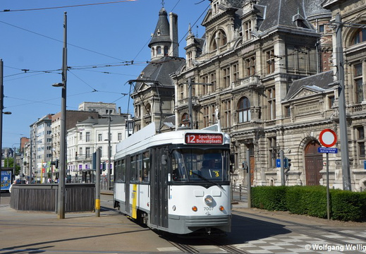 Tram Antwerp, 7007, Nationale Bank