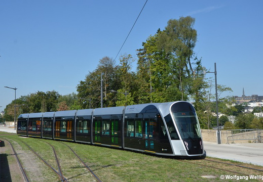 Tram Luxembourg, 102, Rout Bréck-Pafendall