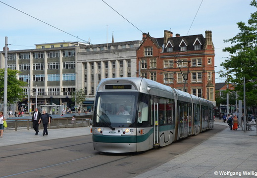 Nottingham Tram, 214, Old Market Square