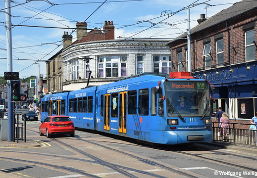 Sheffield Supertram, 111, Hillsborough