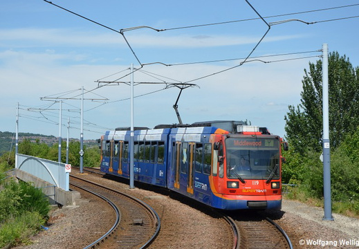 Sheffield Supertram, 119, Cricket Inn Road