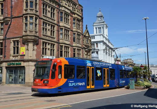 Sheffield Supertram, 107, Cathedral